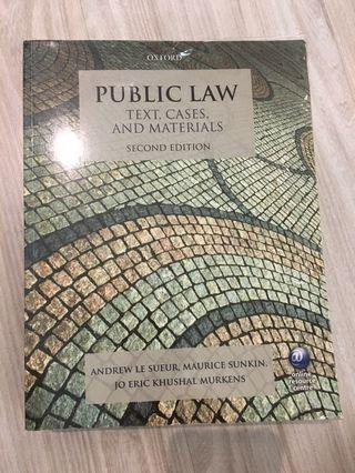 (AUTHENTIC) Public Law- Text, cases and Materials by Andrew Le Sueur