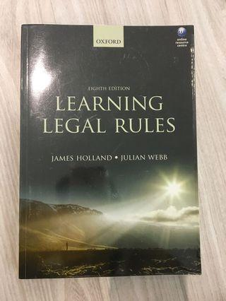 (AUTHENTIC) Learning Legal Rules by James Holland & Julian Webb