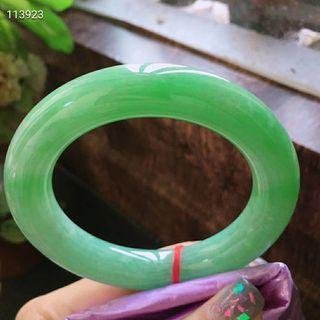 規格58.5/13.2/12.8   特惠 起光老坑種   滿綠色圓條手鐲  料子細膩 無紋裂   台灣證 🇹🇼🇹🇼