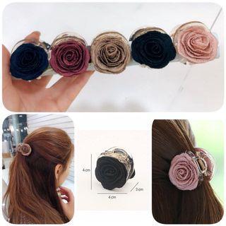 韓國連線 高貴典雅的中型玫瑰抓夾