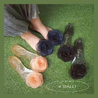 花朵平底魚口果凍鞋 SS4217