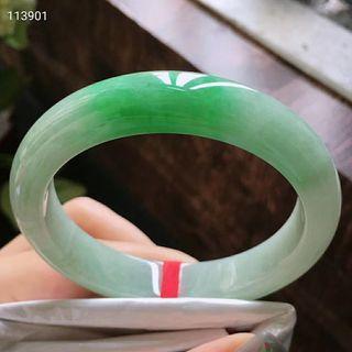 規格56.2/12.2/8,特惠   起光老坑種  飄綠  寬條手鐲  無紋裂上手好看 台灣證 🇹🇼🇹🇼