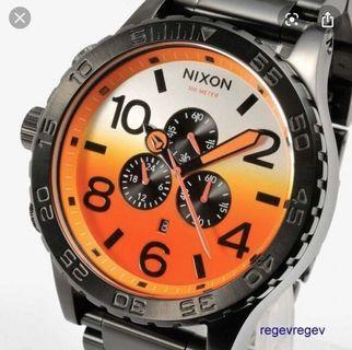 Nixon 51-30 Chronograph All Black Sunrise Watch A083-580