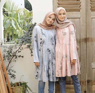 Vanilla Tunik by Vanilla Hijab - Blue Color - size L/XL