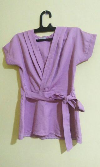 Blouse Pink / atasan kimono / baju kimono boleh barter