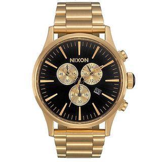 Nixon Sentry Chronograph All Gold Black Dial Watch A386-510