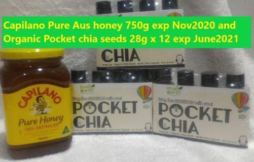 Capilano Pure Australian Honey and 12 bottles Pocket Chia Seeds