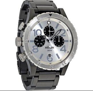 Nixon 48-20 Silver Dial Chronograph Watch A486-180