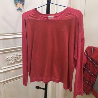 Korean sweater fuschia pink