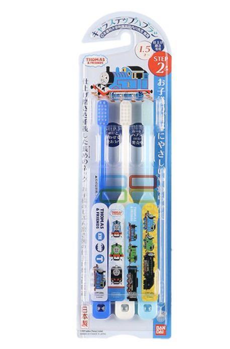 日本製兒童牙刷,1 pack 3支,有1.5 歲及3歲或以上