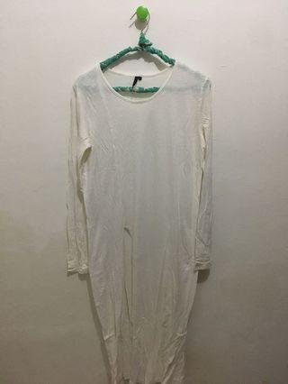 White Long T-shirt