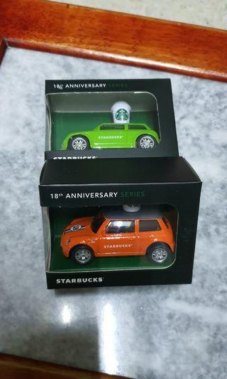 Starbucks 18th Anniversaries Mini Car