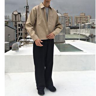 【二手】YU SELECT-優選 Steven Alan x Ben Davis M號 日本製駝色寬短版大口袋工作外套