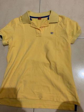 黃色polo衫  肩38.5  衣長55.5
