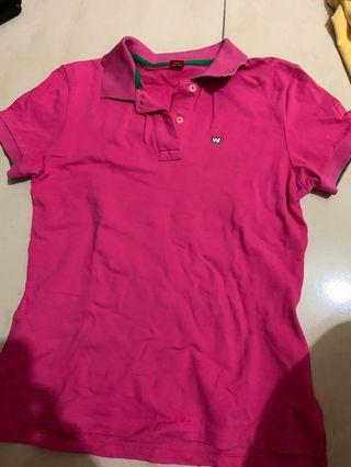 粉色polo衫 肩寬38