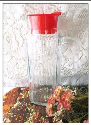 全新 冷水壺玻璃 涼水壺 果汁瓶 冷水瓶 玻璃 水瓶 茶壺 冷泡茶 容量1000m