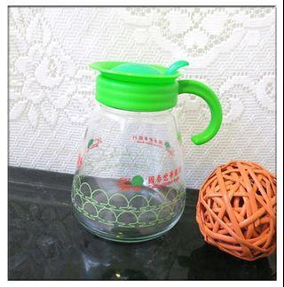全新 玻璃壺 玻璃壺 冷水壺 水壺 玻璃瓶 冷涼水瓶 果汁瓶 約800ml 出清199元