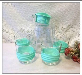 全新 Luminarc 法國 樂美雅 1壺4杯組 冷水壺 玻璃壺杯組合 杯子 玻璃杯 玻璃壺 水壺