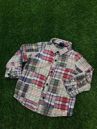 A128 : Baby Gap Checkered Shirt