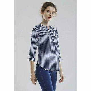 Rodeo Blouse Navy Stripes