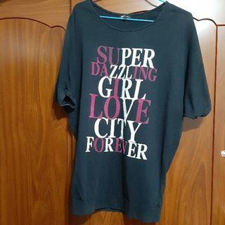 飛鼠袖長版T恤S