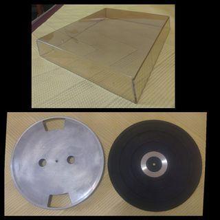 黑膠唱盤PVC防麈罩+鋁制唱盤+橡膠墊  三樣合購