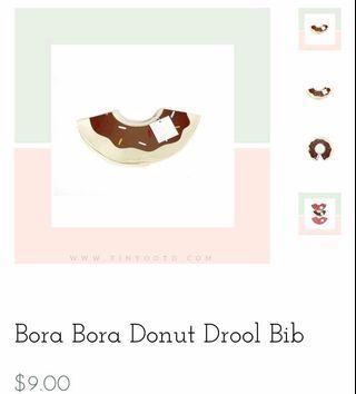 New - Tiny Ootd Donut Baby Bib (Singaporean Brand)