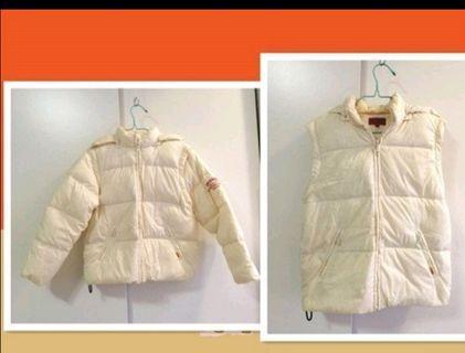 女生背心 第五街男生外套 5TH STREET 米色 羽絨外套 尺寸140 外套