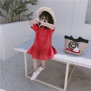 女童 鏤空燒花洋裝(100碼)