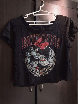 仿舊米妮短版T恤上衣