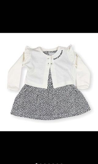 Carters black and white cardigan dress