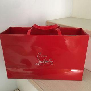 紅底鞋紙袋