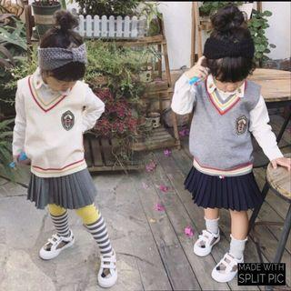 女童高品質學院風百褶裙