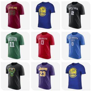 全新現貨NBA籃球訓練服球迷短袖T恤