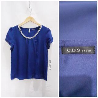 Atasan biru / blue top / Korean blazer coat / dress / atasan / top/blouse/ maxi dress/ formal dress/ casual/ kemeja/ PLEASE TO READ DESCRIPTION MORE CAREFULLY.