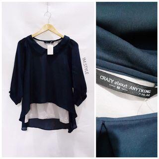 Atasan biru / Korean blazer coat / dress / atasan / top/blouse/ maxi dress/ formal dress/ casual/ kemeja/ PLEASE TO READ DESCRIPTION MORE CAREFULLY.