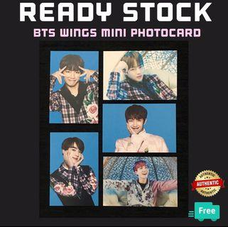 OFFICIAL BTS WINGS MINI PHOTOCARD