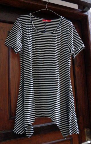 Stripes blouse sz XL #maugendongan