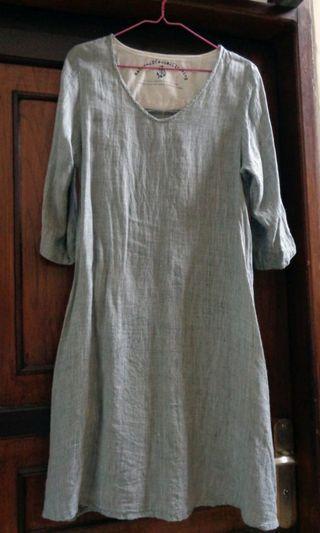 Linen dress by Closshi sz M #maugendongan