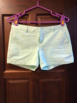 窄版淺藍氣質短褲
