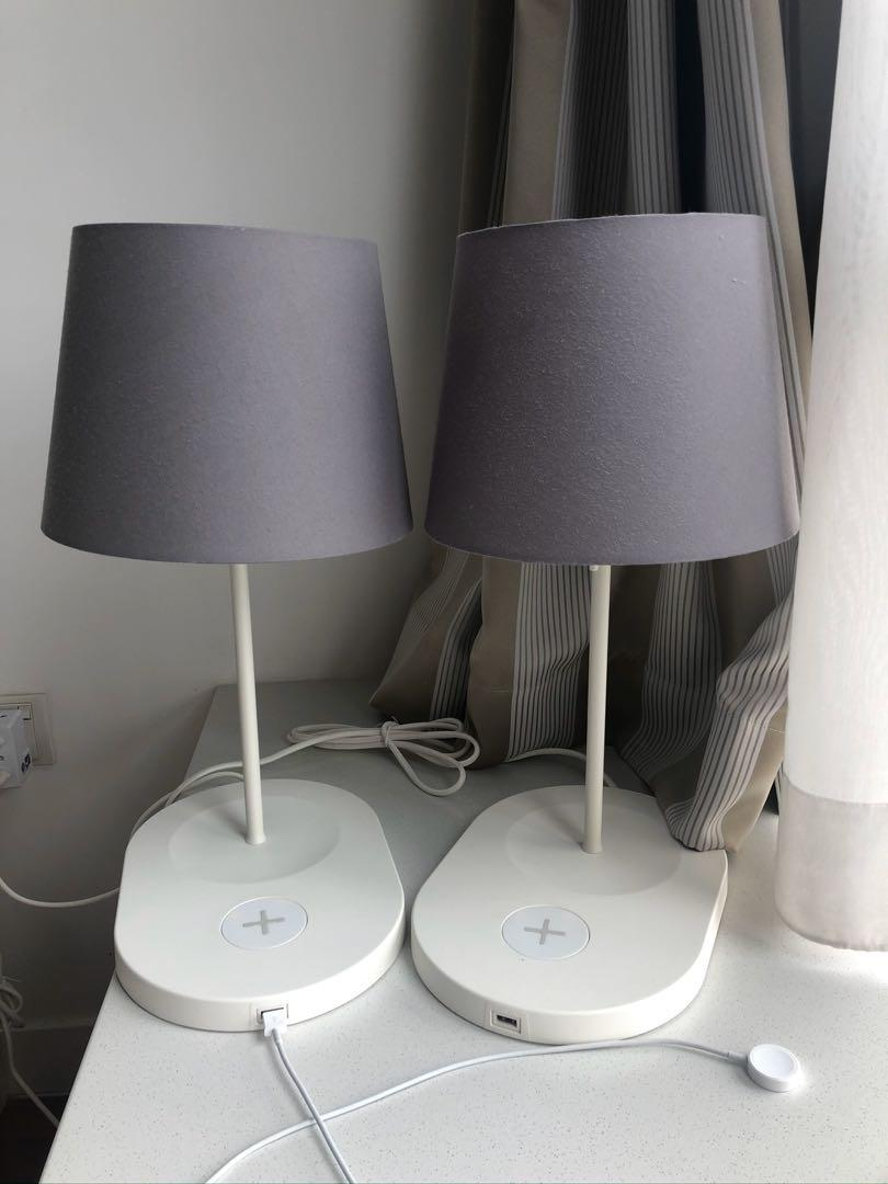 2 Ikea Varv Lamps With Wireless Charging Furniture Others On