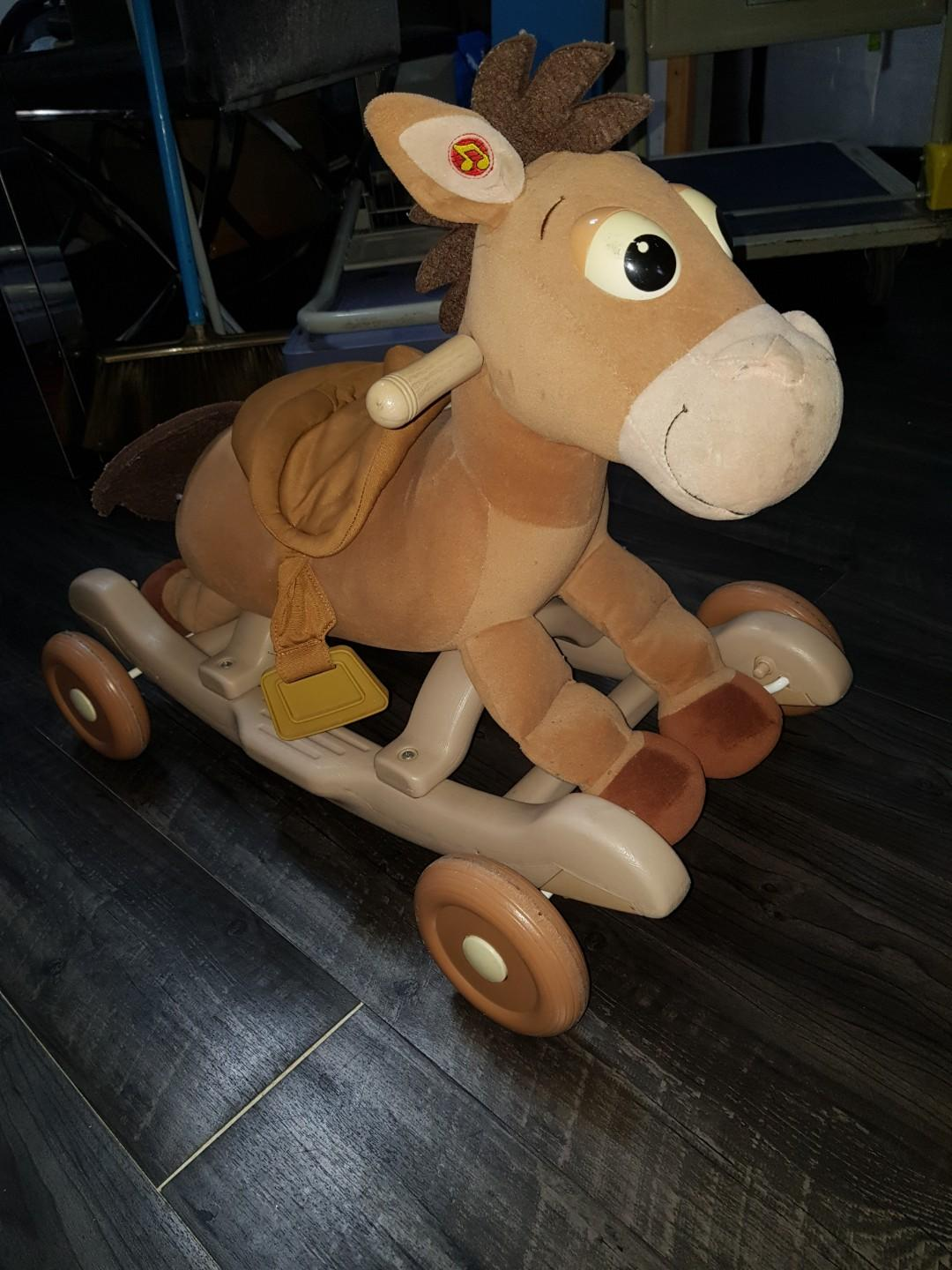 2-in-1 Wooden Rocking Horse, push horse