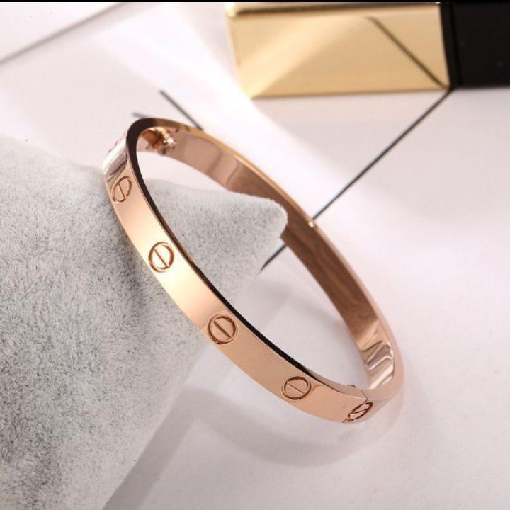 💖新品💖簡約鈦鋼玫瑰金手環