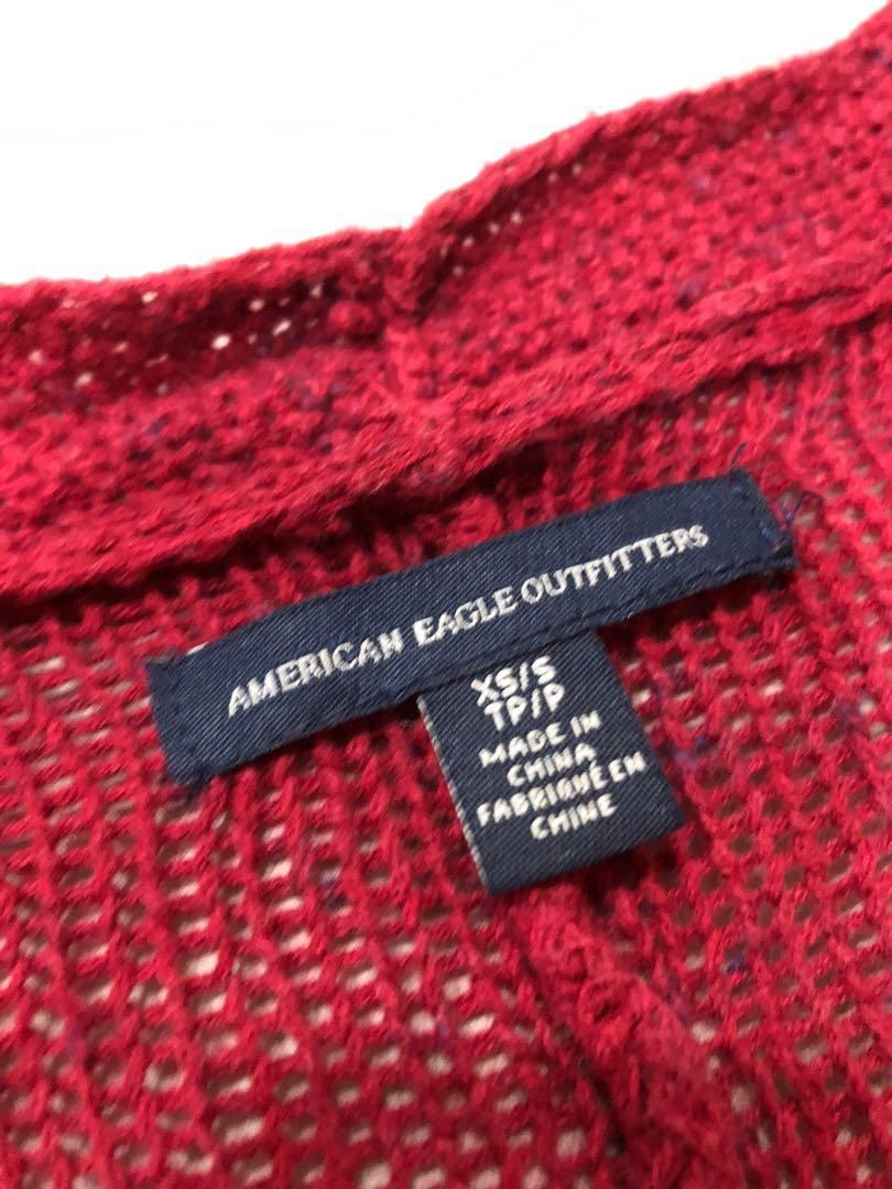 針織縮袖罩衫/薄外套