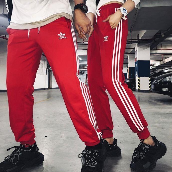 全新現貨Adidas三葉草男女運動褲三線褲縮腳褲