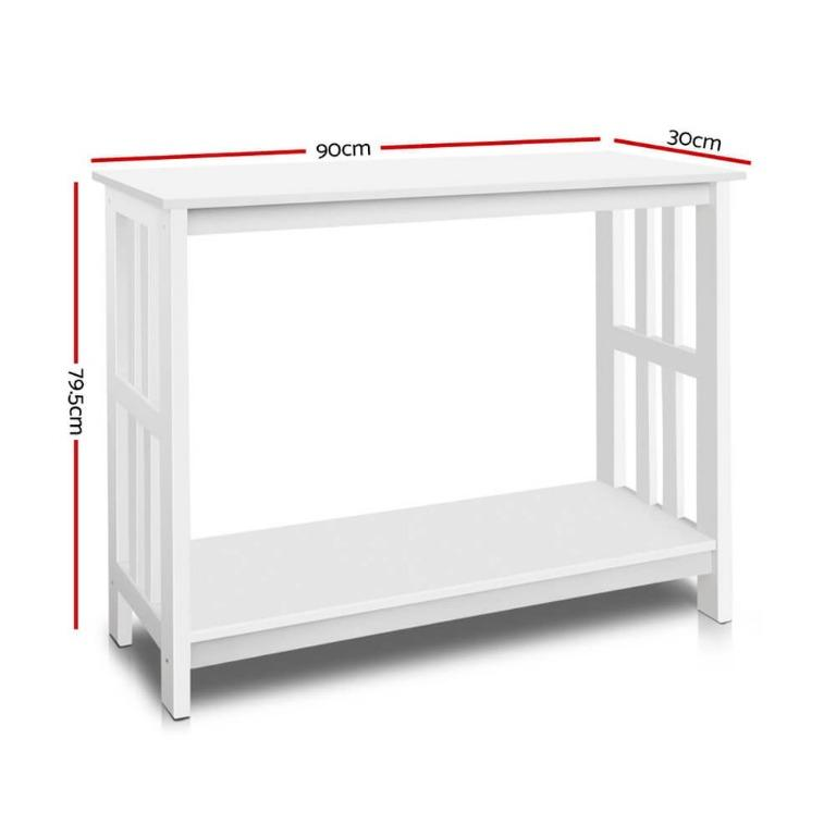 Artiss Console Table Hallway White Sideboard Desk Hall Entry Display Shelf Stand White