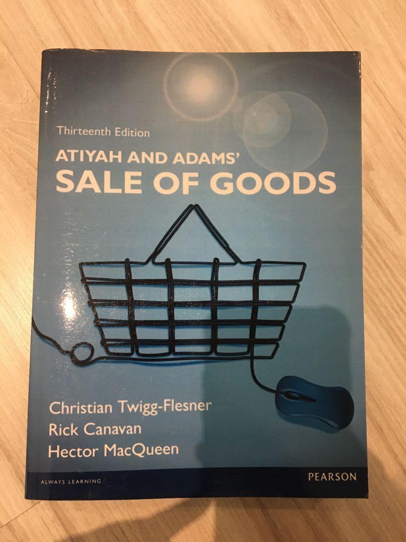 Atiyah and Adam's Sale of goods