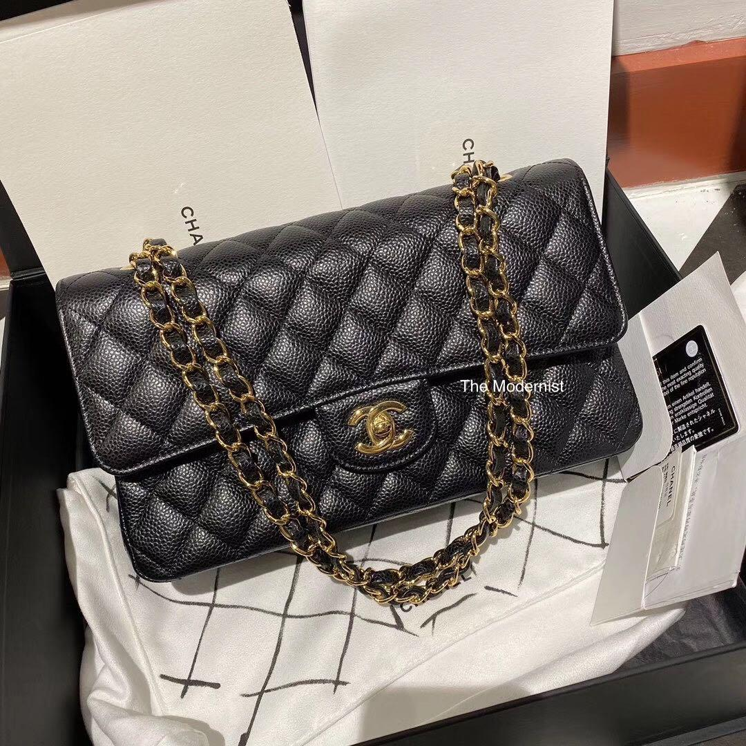 Authentic Pre-loved Chanel Caviar Leather Small Double Flap GHW (Full Set with Receipt)