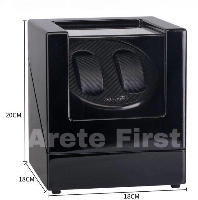 *PROMO* BNIB Automatic Classic Watch Winder Wood Box (Carbon Fibre) for two (2) watches winding