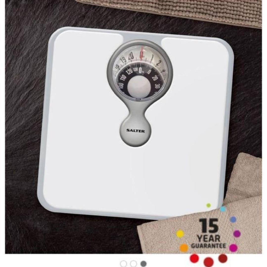 B0060 Salter Magnified Display Mechanical Bathroom Scales - White